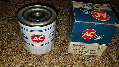 NOS GM Oil Filter AC Delco PF 24 Pontiac GTO Lemans Olds F85 Buick GM# 6437462
