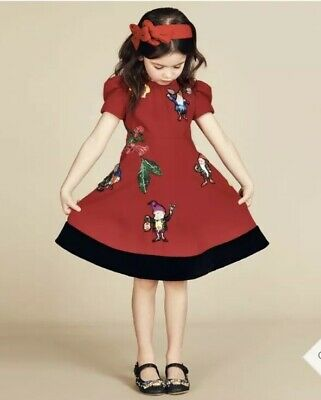 Bnwt D&G Dolce And Gabbana Girls Red Fairytale Dress 12 Years Rrp £1200