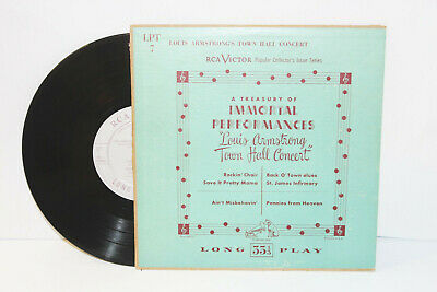 """Louis Armstrong Town Hall Concert 10"""" LP (RCA Victor) - Vintage Vinyl Record"""