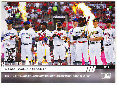 Home Run Derby Pete Alonso Guerrero Josh Bell Acuna Jr 7-8-19 2019 Topps NOW 489