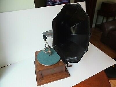 Gramophone with painted horn