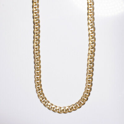 9mm 55 GRAM SOLID 10K YELLOW GOLD CHAIN 24 INCH MIAMI CUBAN LINK MENS NECKLACE