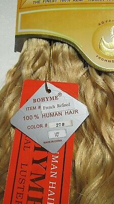 """Bohyme Gold, French Refined,100%Human Hair,10"""",12"""",14"""",16""""18""""(whole or1/2 Pack)"""