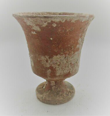Scarce Ancient Mycenaean Terracotta Chalice Circa 1500-1000Bce Ancient Greek