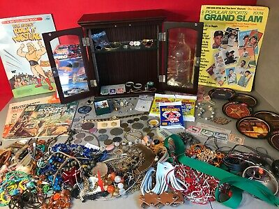 Junk Drawer Collectibles, Gold, Jewelery, Coins And More Lot