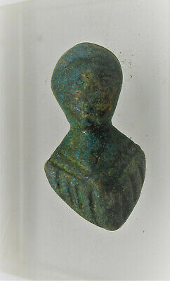 European Finds Ancient Roman Bronze Mount In The Form Of Mars Rare