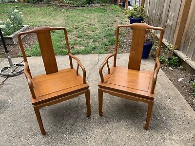 Pair (2) Antique Chinese Huanghauli Guanmaoyi Early 20th Century Chairs
