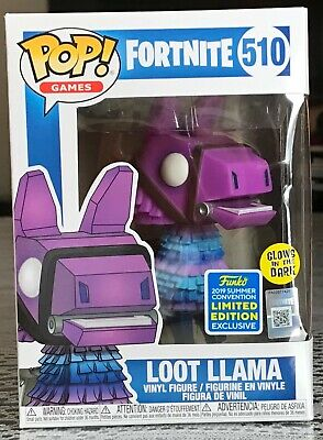 Funko Pop! Fortnite: Loot Llama #510 - Glows In The Dark - 2019 Shared SDCC Excl