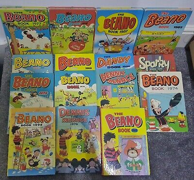 15 Beano Dennis the Menace Annuals 70 80s 90s Joblot Bundle