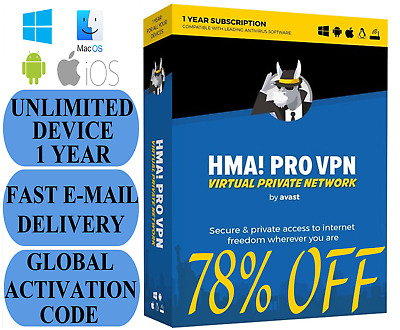 Hide My ASS HMA VPN 1 Year Unlimited Devices KEY Instant Email Delivery