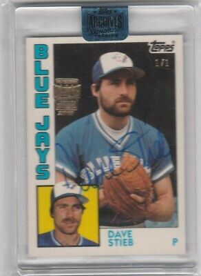 2018 Topps Archives DAVE STIEB RARE '84 TOPPS TIFFANY 1/1 AUTOGRAPH! BLUE JAYS!