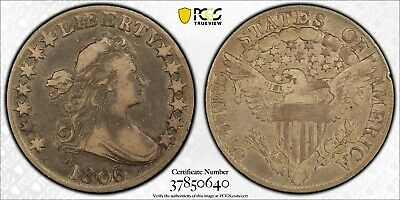 1806/5 Drapped Bust Half Dollar, O-103 LARGE STARS VF20 PCGS Very Fine 20