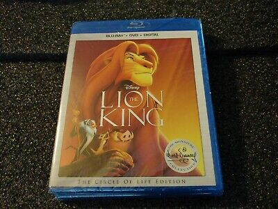 THE LION KING Circle Of Life Ed. (Blu-ray + DVD + Digital) Disney Factory Sealed