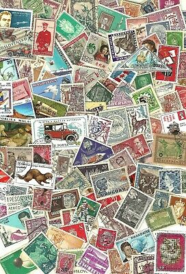 WORLDWIDE - Mixture of 250+ ALL OFF PAPER  Stamps WYSIWYG Lot SEE SCANS