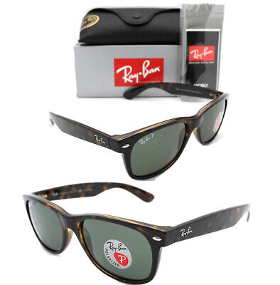 New Authentic Ray-Ban RB2132 902/58 58mm Large Havana Tortoise Green Polarized