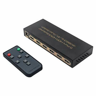 Dragang HDMI Splitter 4K@60Hz HDMI Switcher 5-IN/1-OUT Ports with IR Remote