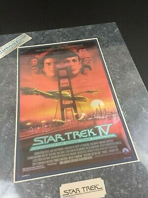 Star Trek IV Movie Poster Art ChromArt Print COA Special Collector's Edition