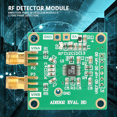 AD8302 Amplitude Phase RF Detector Module IF 2.7GHz Phase Detection Useful US C