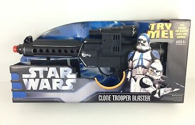 Star Wars CLONE TROOPER Electronic FX Blaster Cosplay Roleplay Prop Toy OOP NEW