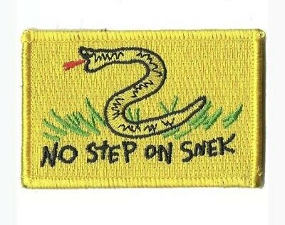"""VELCRO® BRAND Hook Fastener Compatible Patch No STep On Snek Yellow 3x2"""""""
