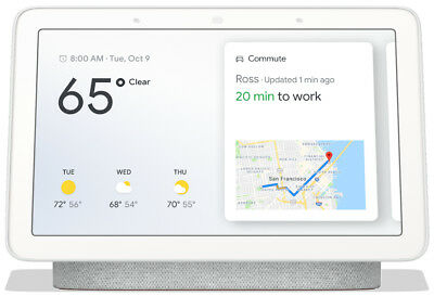 "Google 7"" Touchscreen Nest Hub with Built-In Google Assistant, Chalk"
