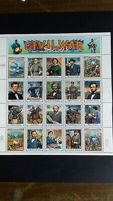 U.S.A Great Civil War Sheet of Stamps as Per Photo. Very Low Start