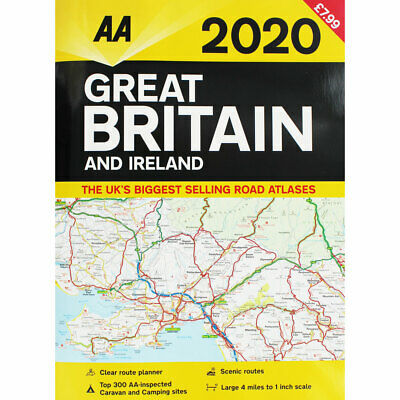AA Great Britain and Ireland - 2020 Road Atlas, Non Fiction Books, Brand New