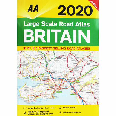 AA Large Scale Road Atlas Britain 2020 by AA (Paperback), Non Fiction Books, New