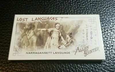 2019 Topps Allen & Ginter LOST LANGUAGES MINI INSERT You Pick Your Card QTY