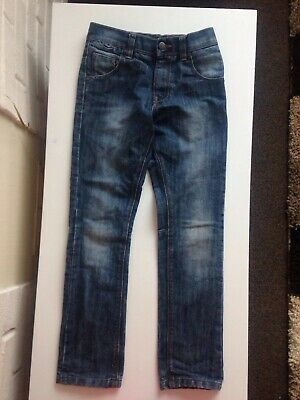 Boys Next Denim Slim Leg Jeans Good Condition Age 9 Years Adjustable Waist