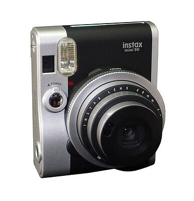 Fujifilm Instax Mini 90 Neo Classic Instant Film Camera  BLACK   UK STOCK