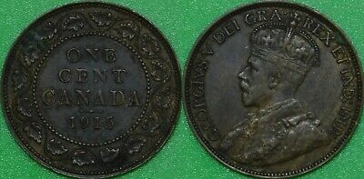 1915 Canada Large Penny Graded as Very Fine