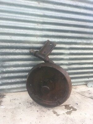 Old Plough Wheel Garden Ornament Antique