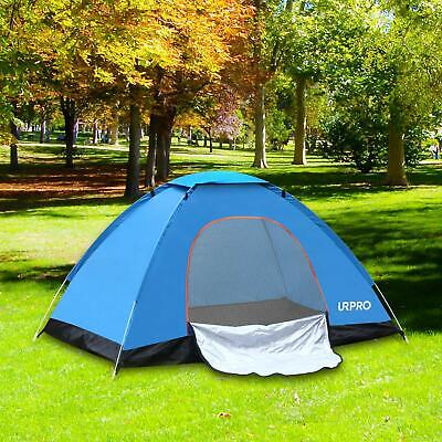 3-4 Man Person Family Camping Pop Up Tent Auto Hiking Festival Beach Dome Tent