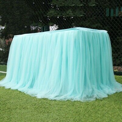 Tulle TUTU Table Skirt Tableware Cover Baby Shower Birthday Party Wedding Decor