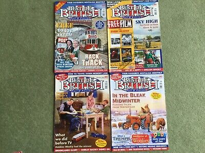 BEST OF BRITISH PAST AND PRESENT MAGAZINES 2010 x 4 Jan, Feb, March, April