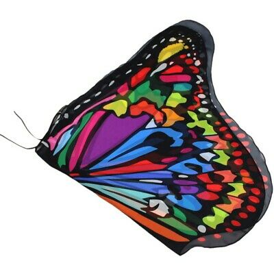 Kid Girl Fairy Butterfly Wings Costume Princess Shawl Cape Party Cosplay Cloak