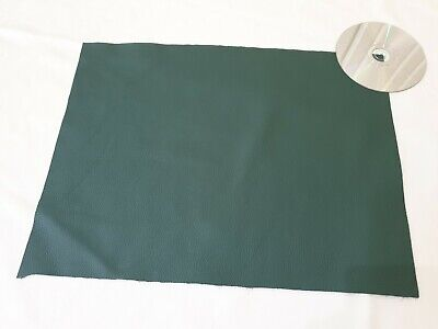 Soft Green 40cmx30cm large offcut 100% leather Yarwood 1.4mm Craft patch repair