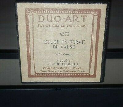 Etude En Forme De Valse Saint-Saens Duo-Art Recut Player Piano Roll B2