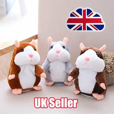 Talking Hamster Cute Nod Mouse Record Chat Mimicry Pet Plush Toy Xmas Gift PN