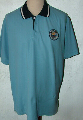 Official Manchester City Polo T Shirt 2XL 52in Ches