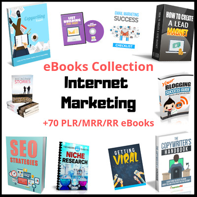 70+ Internet Marketing eBooks Package Collection With Resell Rights | PDF format