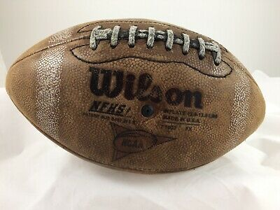 Vintage Wilson Leather Football GST F1003 NFHS NCAA 1005 •Very Worn & Distressed