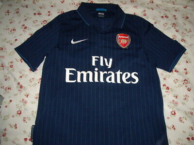 low priced cb5f1 d3f9f ARSENAL NIKE SOCCER Jersey Premier League Away Kit 2009-10 Navy Adult Small