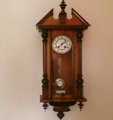 Stunning Victorian Gustav Becker Chiming Wall Clock Vienna Regulator