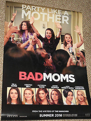 A Bad Moms Christmas Movie Poster.A Bad Moms Christmas Movie Poster 2 Sided Original 27x40