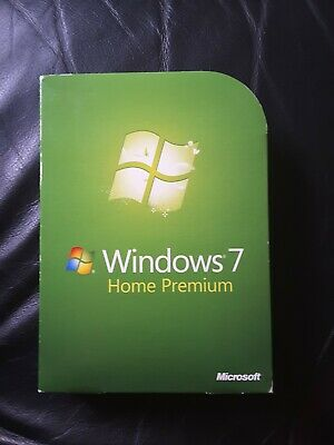 Windows 7 Home Premium SP1 32-bit and 64-bit DVDs with unused product key
