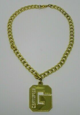 """WWE WRESTLING /""""SIN CARA/"""" YELLOW METAL BALL CHAIN PENDANT NECKLACE NEW OFFICIAL"""