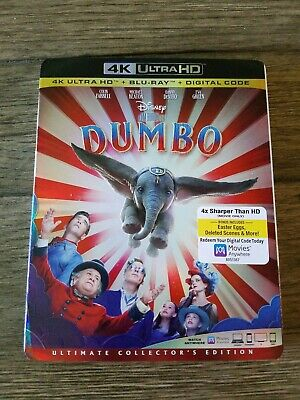 Dumbo (2019) 4K and Bluray (No Digital Copy) Like New Danny DeVito (Disney)