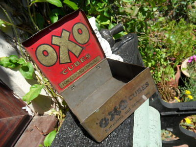 Rare Vintage OXO Cubes Tin (12 x12cm) will combine P&P if buying more than 1 tin